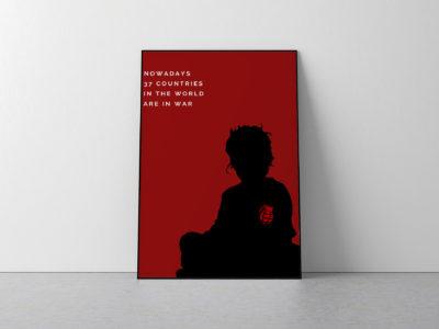 Poster against war